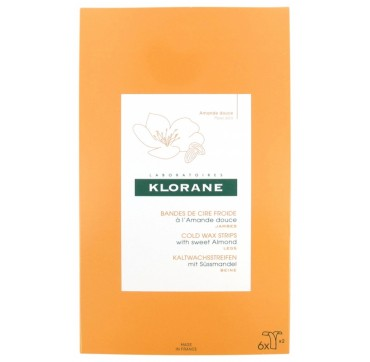 Klorane Hair Removal Cold Wax Strips Face and Sensitive Zones 2x6τμχ