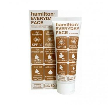 Hamilton Sun Everyday Face Tinted Sunscreen Light Cream SPF30 50gr