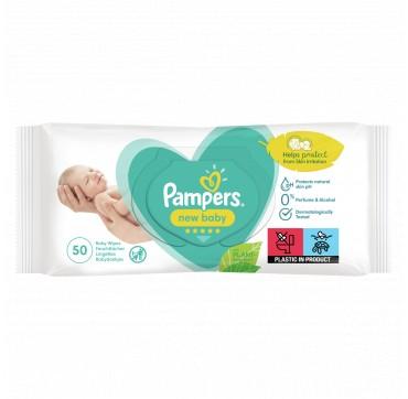 Μωρομάντηλα Pampers New Baby Sensitive Με Καπάκι 50τεμ