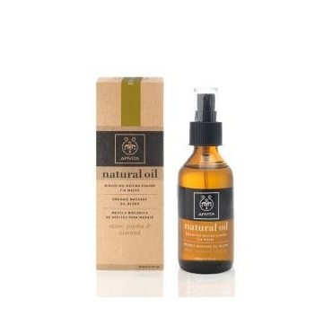 APIVITA NATURAL OIL ΜΕΙΓΜΑ ΕΛΑΙΟ ΜΑΣΑΖ OLIVE-JOJOBA AND ALMOND 100ml