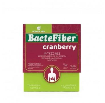 Holistic Med Bactefiber Cranberry Organic Φυτικές Ίνες 14φακ