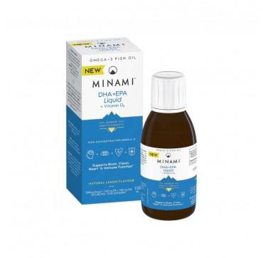 Minami DHA + EPA Liquid + Vitamin D3 150ml Λεμόνι