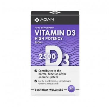 Agan Vitamin D3 2500IU 30 tabs
