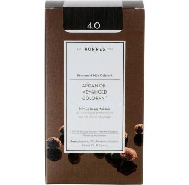 Korres Argan Oil Adv.colorant 4.0 Καστανό Φυσικό 145ml