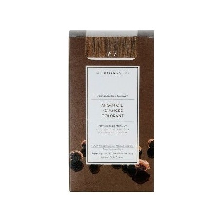 KORRES ARGAN OIL ADV. COLORANT ΒΑΦΗ ΚΑΚΑΟ 6,7 145ml