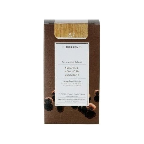 KORRES ARGAN OIL ADV. COLORANT ΒΑΦΗ 8.7 ΚΑΡΑΜΕΛΑ 145ml