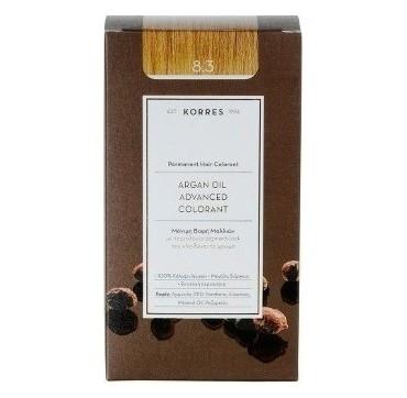Korres Argan Oil Adv. Colorant Βαφή 8,3 Ξανθό Ανοιχτό Μέλι 145ml