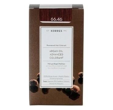 Korres Argan Oil Adv. Colorant Βαφή 66,46 Κόκκινο Βουργουνδίας 145ml