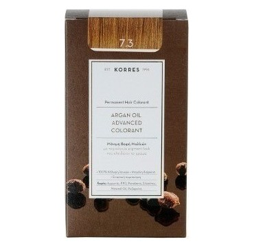 Korres Argan Oil Adv. Colorant Βαφή 7,3 Ξανθό Μέλι 145ml