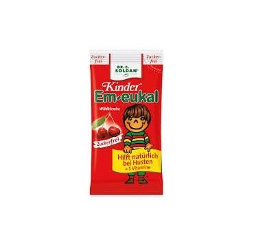 DRCSOLDAN KIDS EM-EUKAL WILD CHERRY (SUGAR FREE) 30τεμ