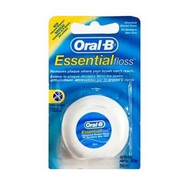 Oral-b Essential Floss Οδοντικό Νήμα Ακύρωτο 50m