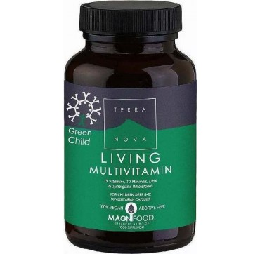 TERRANOVA GREEN CHILD LIVING MULTIVITAMIN 50caps