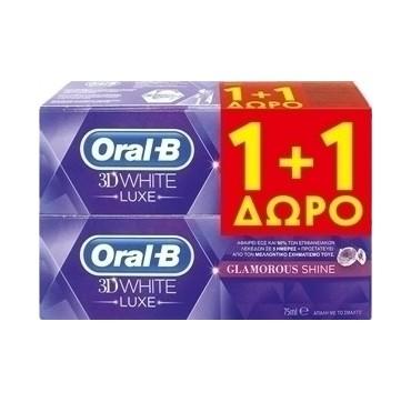 ORAL-B 3D WHITE LUXE GLAMOROUS SHINE 75ml 1+1