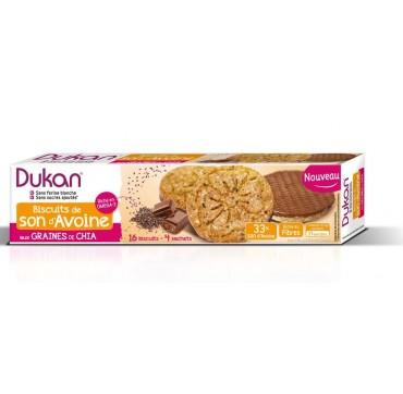 Dukan Μπισκότα Βρώμης Με Επικάλυψη Σοκολάτας Και Σπόρους Chia 160g