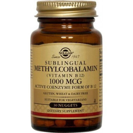 SOLGAR METHYLCOBALAMIN 1000μg 30nuggets