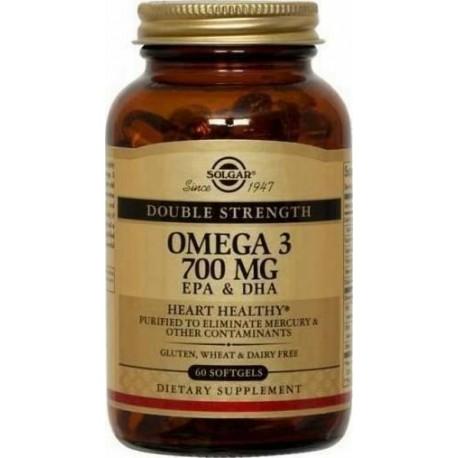 SOLGAR OMEGA-3 DOUBLE STRENGTH 60softgels
