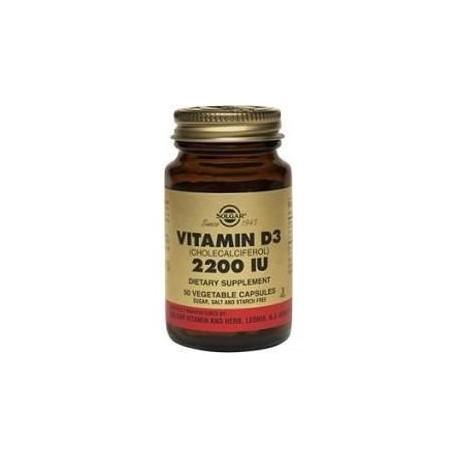 SOLGAR VITAMIN D3 2200 IU 50vcaps