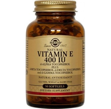 SOLGAR VITAMIN E 400IU (268mg) 50softgels