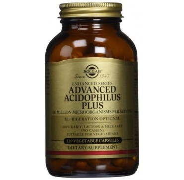 SOLGAR ADVANCE ACIDOPHILUS PLUS 120vcaps