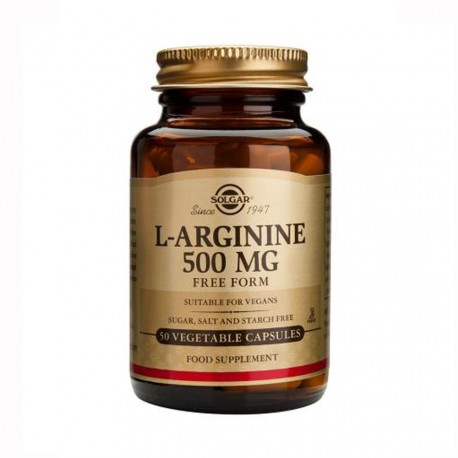 Solgar L-arginine 500mg 50vcpas