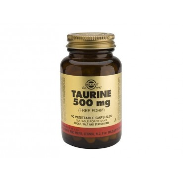 SOLGAR TAURINE 500mg 50vcaps