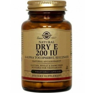 Solgar Vitamin Dry E Caps 200iu 50vcpaps