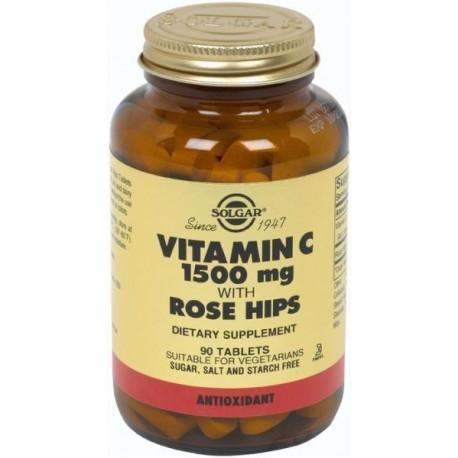 Solgar Vitamin-c 1500mg With Rose Hips 90tabs