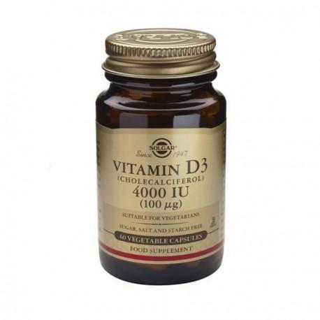 Solgar Vitamin D3 4000iu 60vcaps