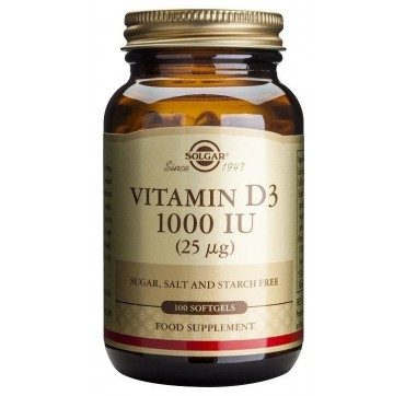 SOLGAR VITAMIN D3 1000iu 100softgels