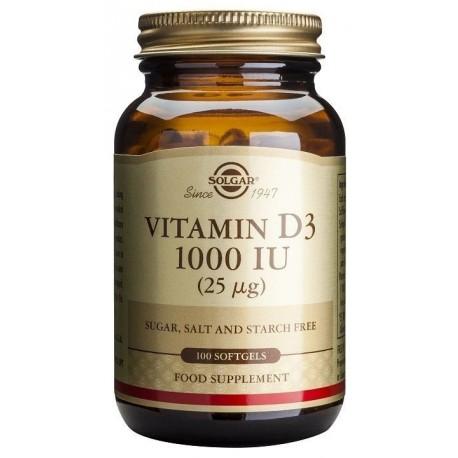 Solgar Vitamin D3 1000iu 100softgels