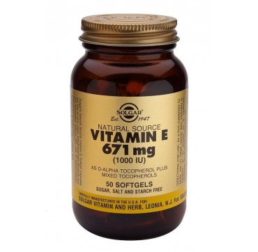 SOLGAR VITAMIN E 1000iu 50softgels