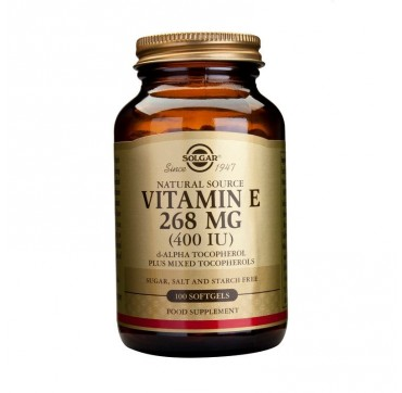 SOLGAR VITAMIN-E 400iu 100softgels