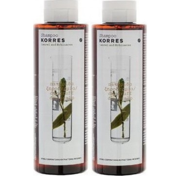 Korres Σαμπουάν Για Πιτυρίδα Και Ξηροδερμία Με Δάφνη Και Echinacea (1+1) 2x250ml
