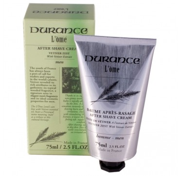 DURANCE L'OME AFTER SHAVE VETIVER ZEST 75ml