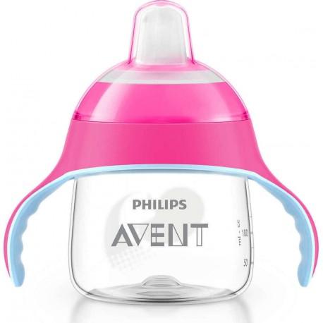 Avent Scf 751 Κύπελλο Με Λαβές Ροζ 6m+ 200ml 1.τεμ.