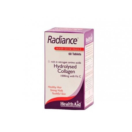 HEALTHAID RADIANCE HAIR-SKIN-NAILS HYDROLYSED COLLAGEN 1000MG WITH VIT C 60TABS