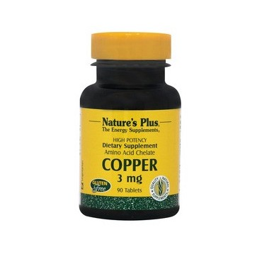 NATURES PLUS COPPER 3mg 90tabs