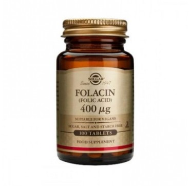 SOLGAR FOLACIN FOLIC ACID 400μg 100caps