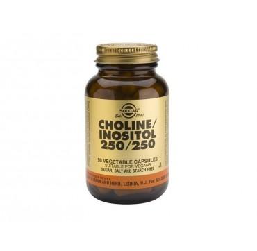 SOLGAR CHOLINE/INOSITOL 250/250mg 50vcaps