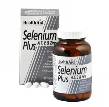 HEALTH AID SELENIUM PLUS (VITAMINS A, C, E & ZINC) 60tabs