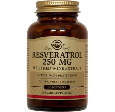 SOLGAR RESVERATROL 250mg WITH RED WINE EXTRACT 30sgels
