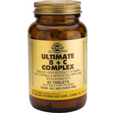 SOLGAR ULTIMATE B+C COMPLEX 60tabs