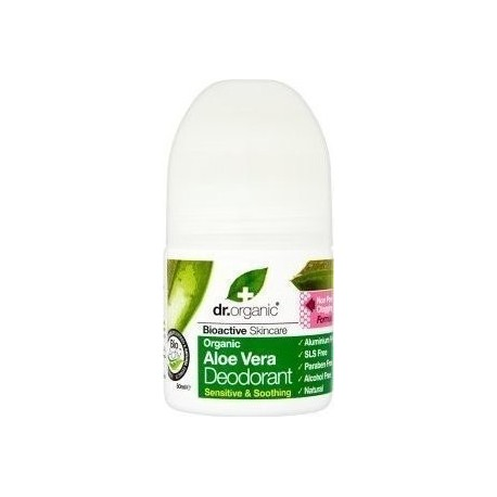 DR ORGANIC ORGANIC ALOE VERA ROLL-ON DEODORANT 50ml