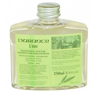 DURANCE L'OME HAIR & BODY WASH VETIVER ZEST 250ml