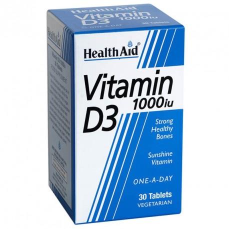 HEALTH AID VIT D3 1000iu. 30tabs