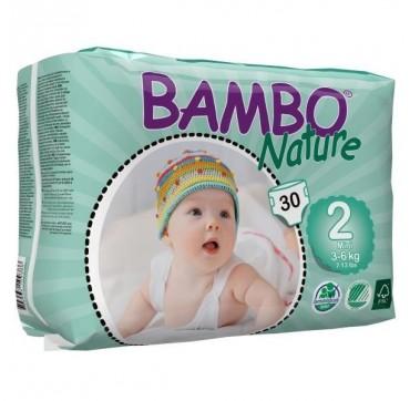 BAMBO NATURE ΠΑΝΕΣ ΟΙΚΟΛΟΓΙΚΕΣ Νο2 (3-6kg) 30τεμ.