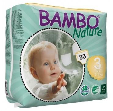 BAMBO NATURE ΠΑΝΕΣ ΟΙΚΟΛΟΓΙΚΕΣ Νο3 (5-9kg) 33τεμ.