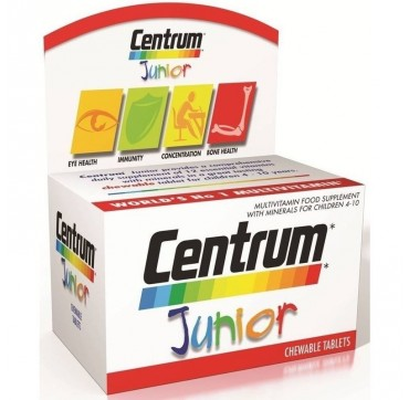 CENTRUM JUNIOR (ετών 4-10) ΓΕΥΣΗ ΒΑΤΟΜΟΥΡΟ - ΛΕΜΟΝΙ 30chew.tabs