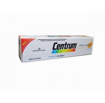 CENTRUM A TO ZINC 20effer.tabs