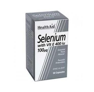 HEALTH AID SELENIUM 100mg+VIT-E 30caps